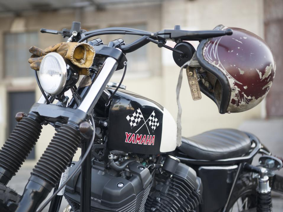 Yamaha SCR950 Chequered Scrambler by Brat Style.