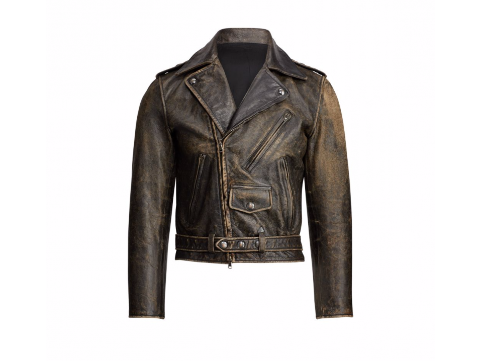 Ralph Lauren Locklear Leather Moto Jacket.