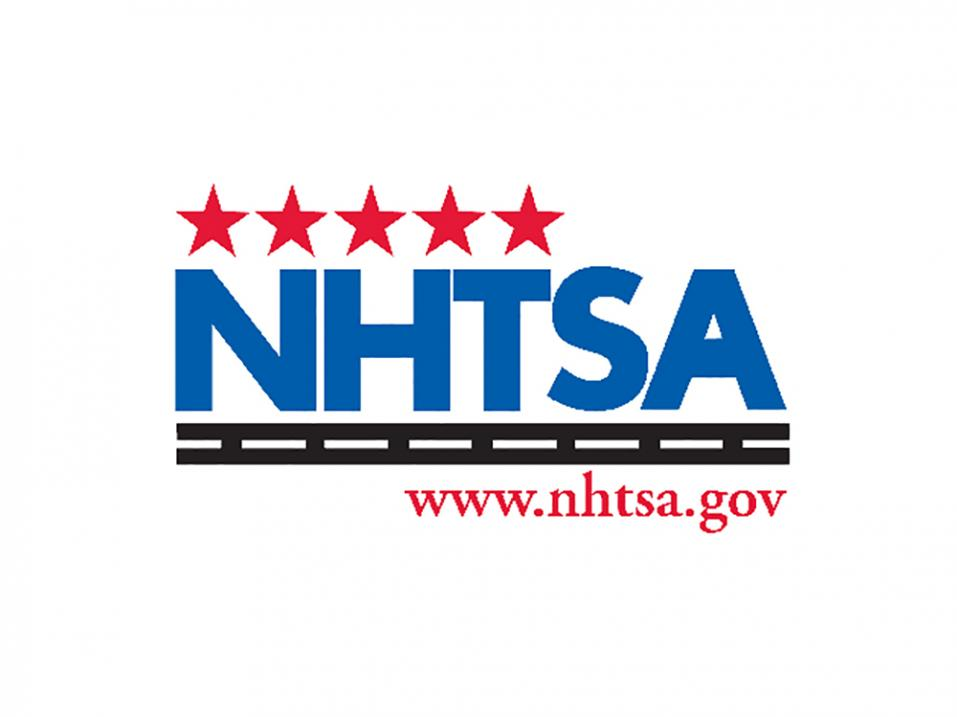 Yhdysvaltain liikenneviranomaisen National Highway Traffic Safety Administrationin, NHTSA:n logo.