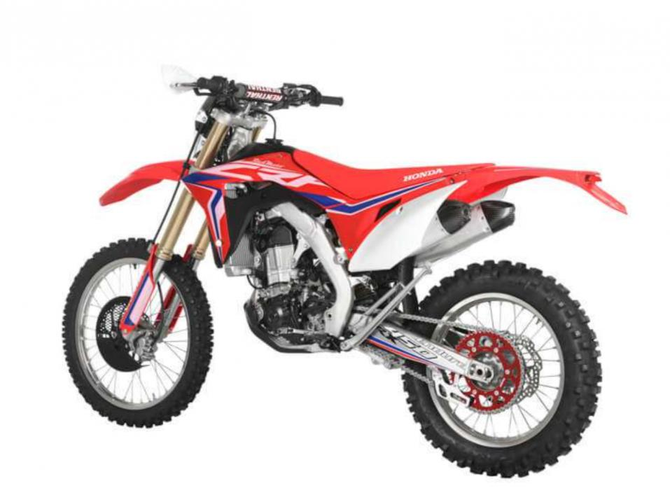 Vuosimallin 2018 Honda CRF450RX Enduro by Red Moto.