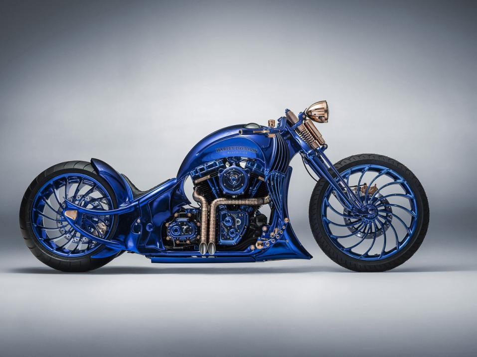 Bundnerbike Harley-Davidson Blue Edition by Bucherer.