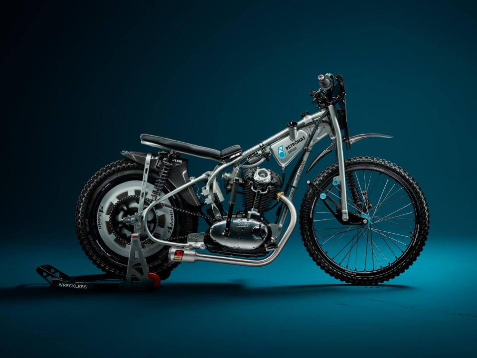Ducati H4MM4 speedway bike by Wreckless Motorcycles.