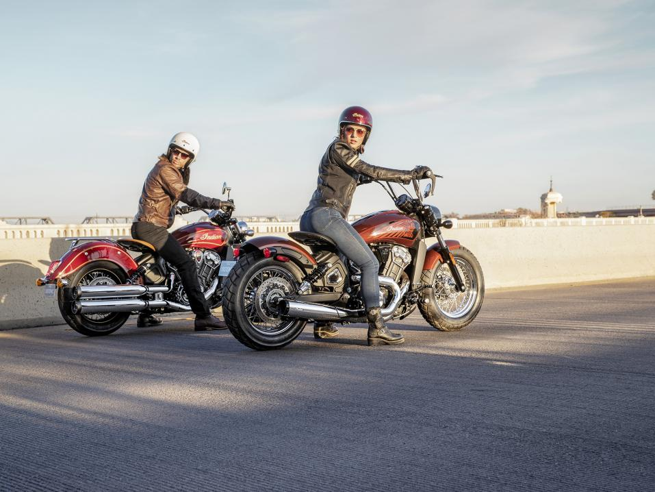 Indian Scout Bobber Twenty ja limited edition Scout 100th Anniversary vm 2020.