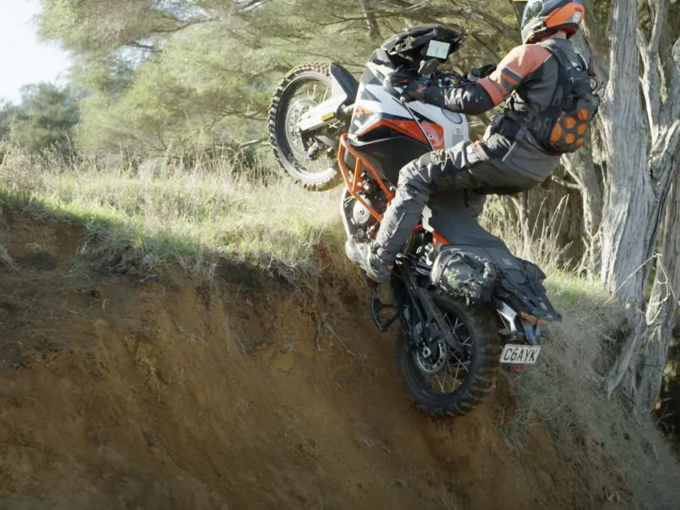 Chris Birch ja KTM SuperAdventure 1290 R. Osaisipa saman!