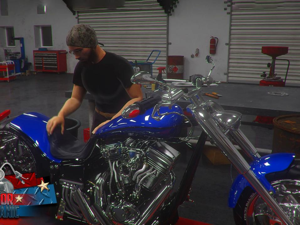 Motorcycle Mechanic Simulator 2021 -peli.