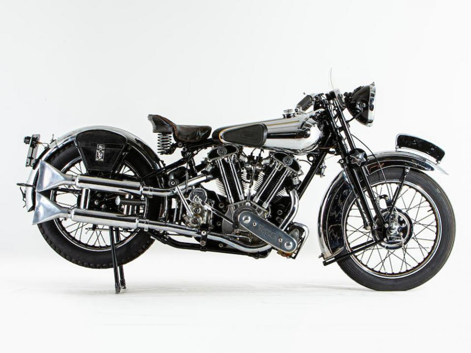 1936 Brough Superior SS100.