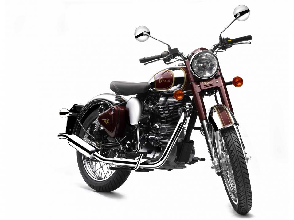 Royal Enfield Classic Chrome Royal Maroon.