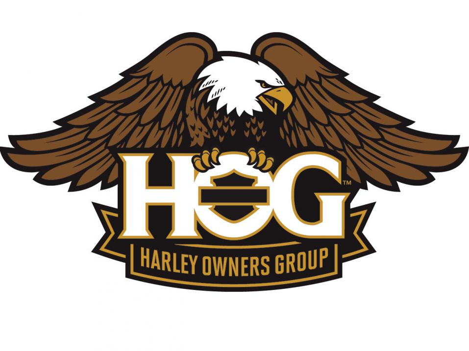 Harley Owners Groupin HOG:n logo.
