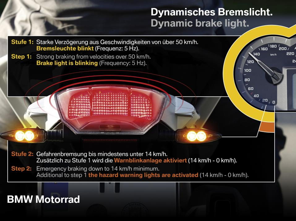 BMW:n dynamic brake lightin toimintaperiaate.
