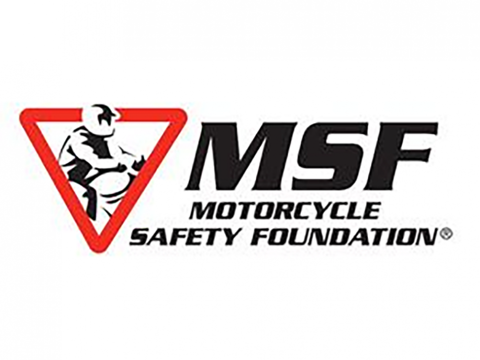 Motorcycle Safety Foundationin, MSF:n logo.