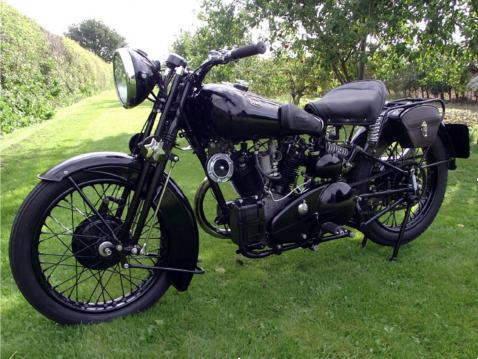 1934 Brough Superior Black Alpine.