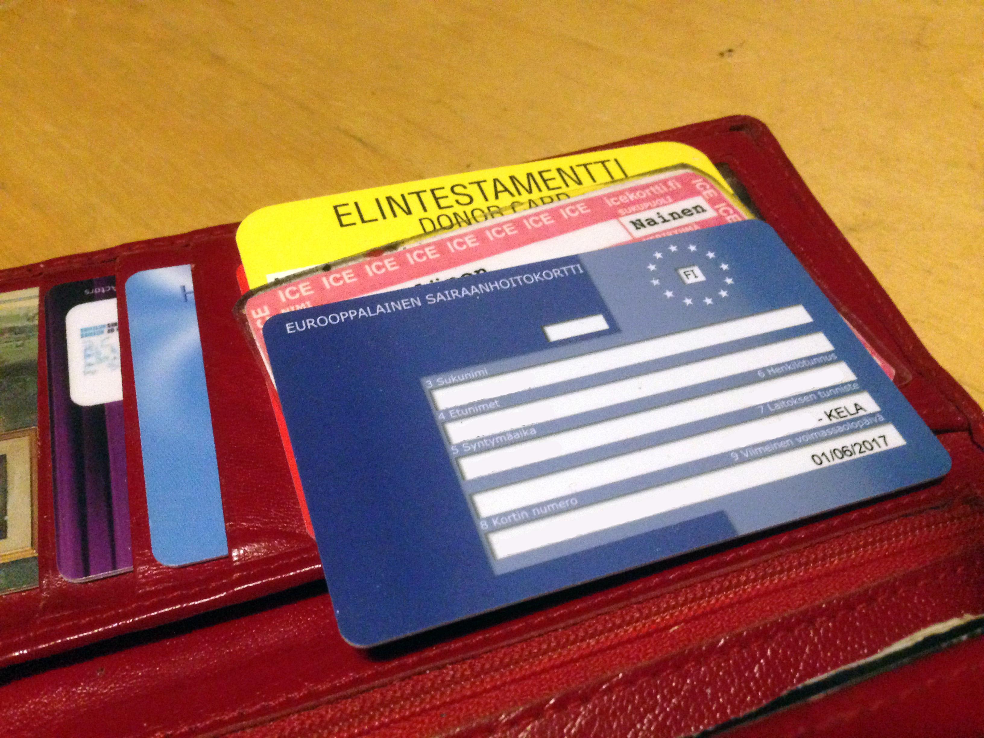 Euroopan Sairaanhoitokortti